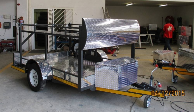custom built double go-cart trailer